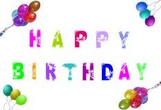 Feliz cumpleaños multicolor Imagen de archivo libre de regalías
