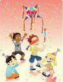 Feliz cumpleaños - Piñata Fotografía de archivo libre de regalías
