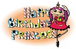 ¡Feliz cumpleaños, princesa! Imagen de archivo