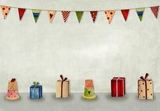 Feliz cumpleaños. Tarjeta de felicitación Foto de archivo libre de regalías
