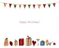 Feliz cumpleaños. Tarjeta de felicitación Fotografía de archivo libre de regalías