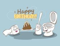 Feliz cumpleaños Tarjeta divertida con cumpleaños Ilustración del vector Foto de archivo libre de regalías