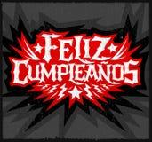 Feliz Cumpleanos -生日快乐西班牙人文本 免版税图库摄影