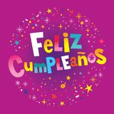 Feliz Cumpleanos Happy Birthday en espa?ol libre illustration