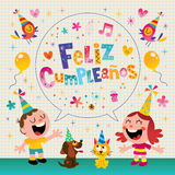 Feliz Cumpleanos - Happy Birthday in Spanish Royalty Free Stock Image