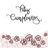 Feliz Cumpleanos Happy Birthday spanish text. Greeting Card. Modern Calligraphy. Vector Illustration vector illustration