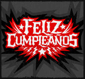 Feliz Cumpleanos - happy birthday spanish text Royalty Free Stock Photography