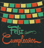 Feliz Cumpleanos - happy birthday spanish text Stock Images
