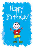 Feliz cumpleaños - muchacho Imágenes de archivo libres de regalías