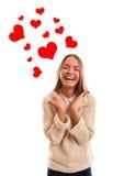 Feliz de ser su tarjeta del día de San Valentín. Fotos de archivo
