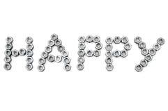 Feliz de tornillo-nueces del metal Fotos de archivo