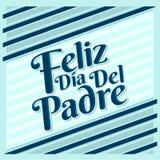 Feliz diâmetro de capelão - os espanhóis felizes do dia de pais text ilustração stock