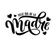 Feliz dia de Λα madre Ευχετήρια κάρτα ημέρας μητέρων στα ισπανικά Χέρι απεικόνιση αποθεμάτων