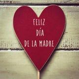 Feliz dia DE La madre, gelukkige moedersdag in het Spaans stock fotografie