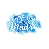Feliz dia de la Madre, Happy Mother s day in spanish Royalty Free Stock Image