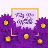 Feliz dia de la Madre, Happy Mother s day in spanish Royalty Free Stock Images