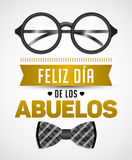 Feliz dia de los abuelos, Happy grandparents day spanish text Royalty Free Stock Photo