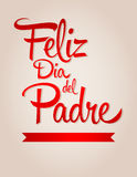 Feliz dia de padre-spanish text Happy fathers day Stock Photography