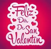 Feliz Dia de San Valentin vector illustratie
