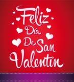 Feliz Dia de San Valentin royalty-vrije illustratie