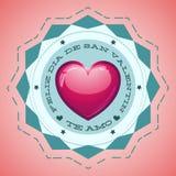 Feliz Dia de San Valentin - Happy Valentines day royalty free illustration