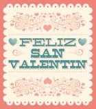 Feliz Dia de San Valentin Stock Photography