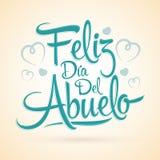 Feliz dia del abuelo, Espagnol heureux de jour de grand-parent textotent Image libre de droits
