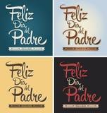 Feliz dia del padre - de gelukkige Spaanse tekst van de vadersdag royalty-vrije illustratie