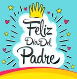 Feliz Dia del Padre, Happy Fathers day  spanish text Royalty Free Stock Images