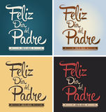 Feliz dia del padre - happy fathers day spanish text Stock Image
