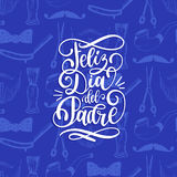 Feliz Dia Del Padre, spanish translation of Happy Fathers Day calligraphic inscription for greeting card, poster etc. Stock Photo