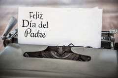 Feliz dia del padre written on paper Stock Image