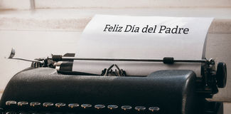 Feliz dia del padre written on paper. With typewriter Stock Photo