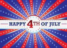 Feliz el 4 de julio Foto de archivo