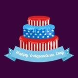 Feliz el 4 de julio, diseño del vector del Día de la Independencia, los E.E.U.U. Imagen de archivo libre de regalías