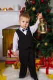 Feliz en la Navidad fotografía de archivo libre de regalías