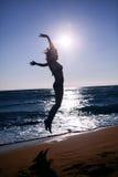 Feliz en la playa Imagen de archivo libre de regalías