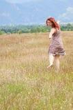 Feliz en naturaleza Foto de archivo libre de regalías