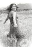 Feliz en naturaleza Fotografía de archivo