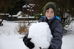 Feliz en nieve Imagen de archivo libre de regalías