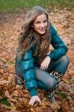 Feliz en otoño Imagen de archivo libre de regalías