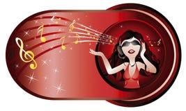 Feliz escuche Foto de archivo libre de regalías