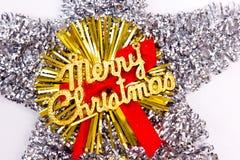 Feliz estrella de Navidad Imágenes de archivo libres de regalías