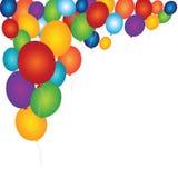 Feliz fondo con los globos coloridos Fotografía de archivo libre de regalías