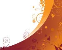 Feliz fondo floral anaranjado Fotografía de archivo libre de regalías