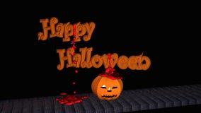 Feliz Halloween con la linterna de la calabaza Foto de archivo