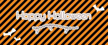 Feliz Halloween creado de cadena Imagen de archivo libre de regalías