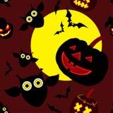 Feliz Halloween decorativo inconsútil del fondo Imágenes de archivo libres de regalías