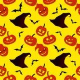 Feliz Halloween decorativo inconsútil del fondo Imagenes de archivo
