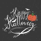 Feliz Halloween del blanco del subtítulo Imagen de archivo